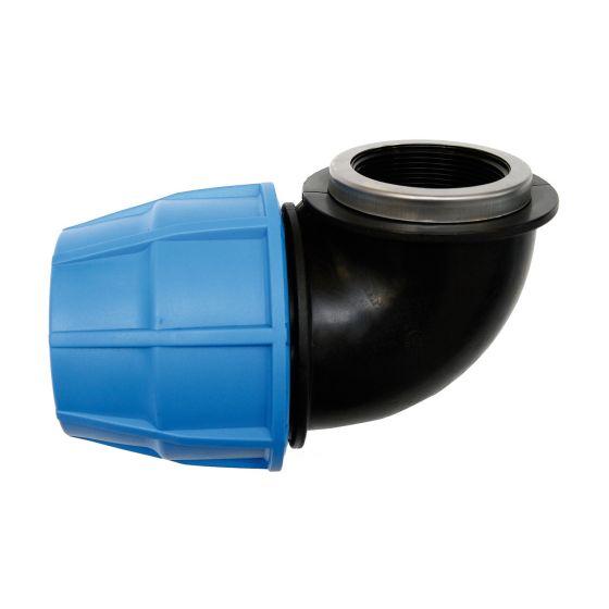 Raccord plastique tube PE - Raccord coudé femelle réduit