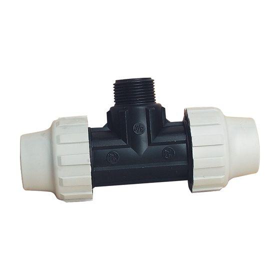 Raccord plastique t 90 m le pour tube pe ou pehd - Raccord tube polyethylene eau potable ...