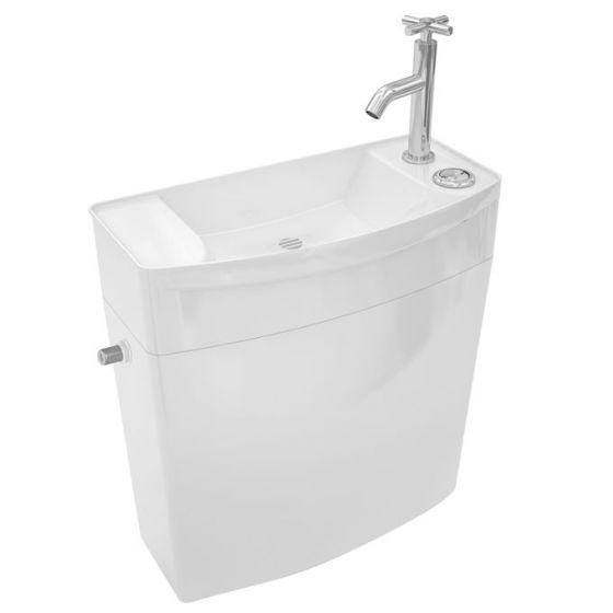 Réservoir ISE'O combiné Lave-Mains double touche attenant blanc - WIRQUIN