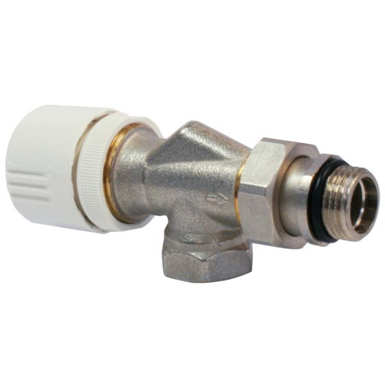 "Robinet thermostatisable corps EQUERRE inversée Femelle 1/2""(15/21)"