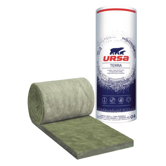 12 rouleaux laine de verre URSA Façade 35 R - Ep. 120mm - 36m² - R 3.40