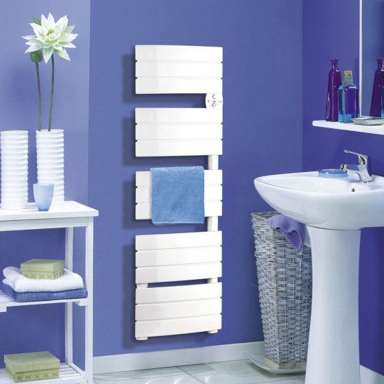 Sèche-serviette électrique AIRELEC ANTHEA + soufflerie - Blanc - Disponible en 3 puissances