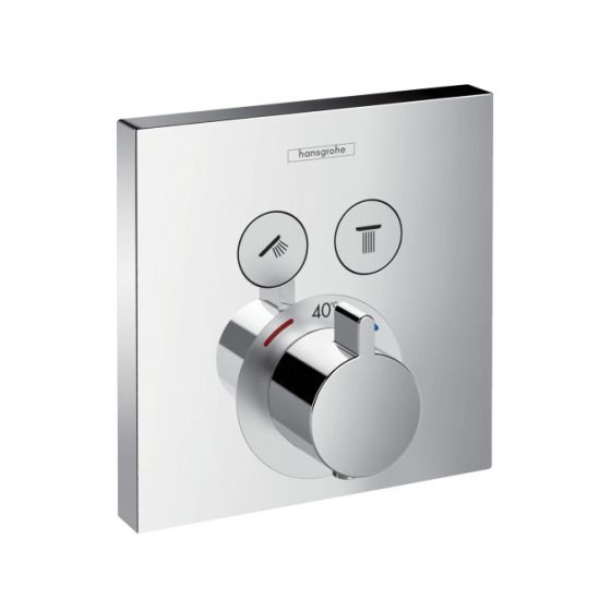 Set de finition mitigeur thermostatique ShowerSelect 2 sorties
