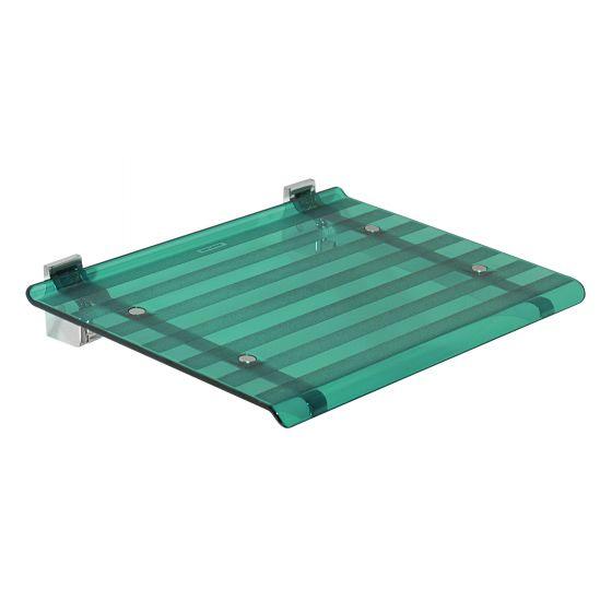 Siège de douche LEO vert transparent