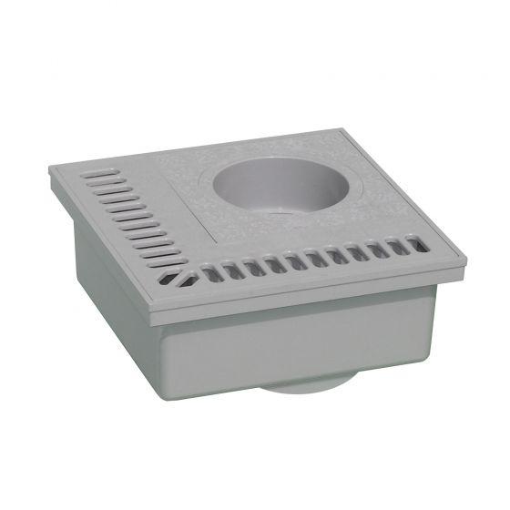 Siphon de balcon PVC 200x200mm - Gris