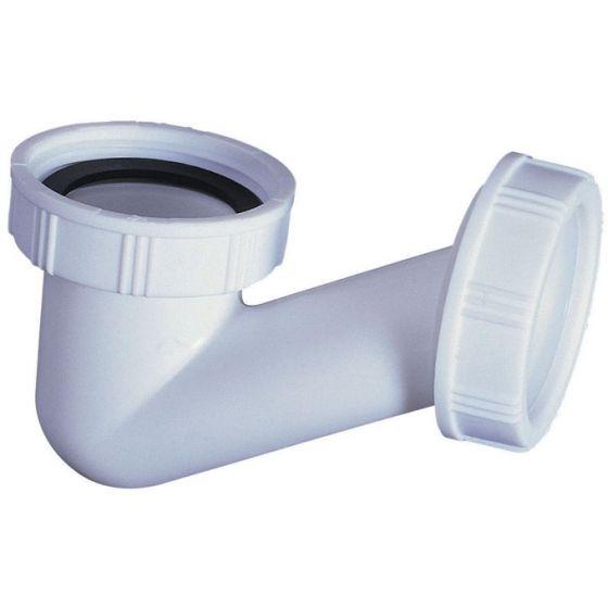 Siphon plastique V gain de place Ø40 - Wirquin Pro 30720444