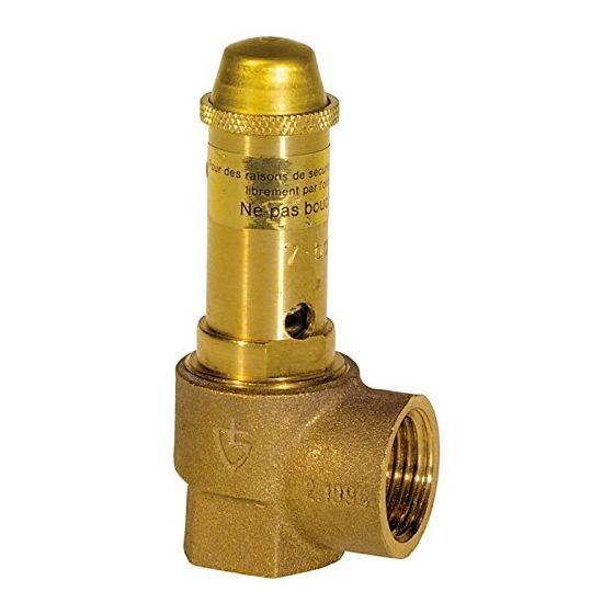 Soupape de sécurité sanitaire en bronze