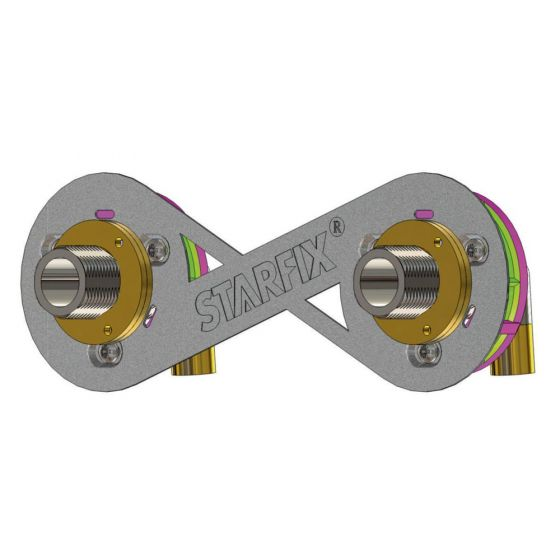 "STARFIX (Douche/Bain Douche) 150mm tube cuivre 14 et 16 - M3/4"" (20/27)"