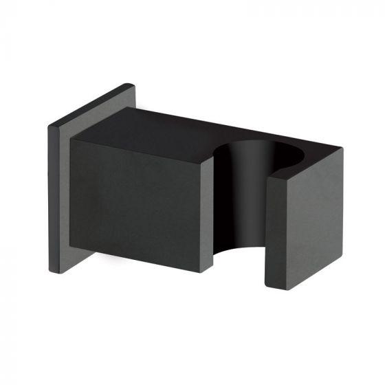 Support mural carré noir Blackmat Quadri - Ondyna PD44813