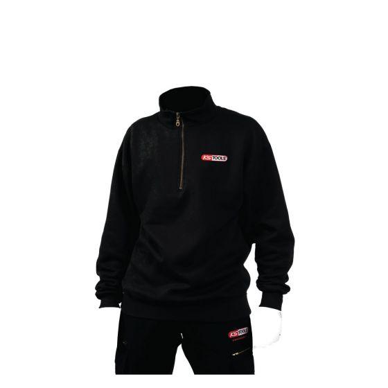 Sweatshirt col zippé noir KS Tools