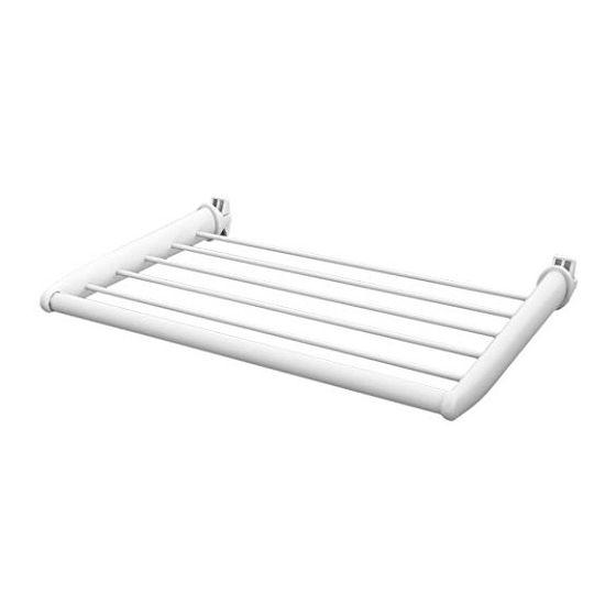 tablette blanche 47cm pour radiateur s che serviettes. Black Bedroom Furniture Sets. Home Design Ideas
