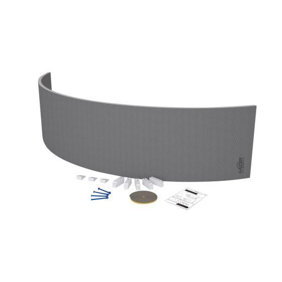tablier de baignoire courb carreler lazer. Black Bedroom Furniture Sets. Home Design Ideas
