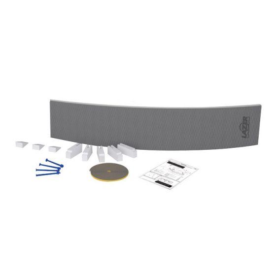 tablier de douche courbe carreler lazer. Black Bedroom Furniture Sets. Home Design Ideas