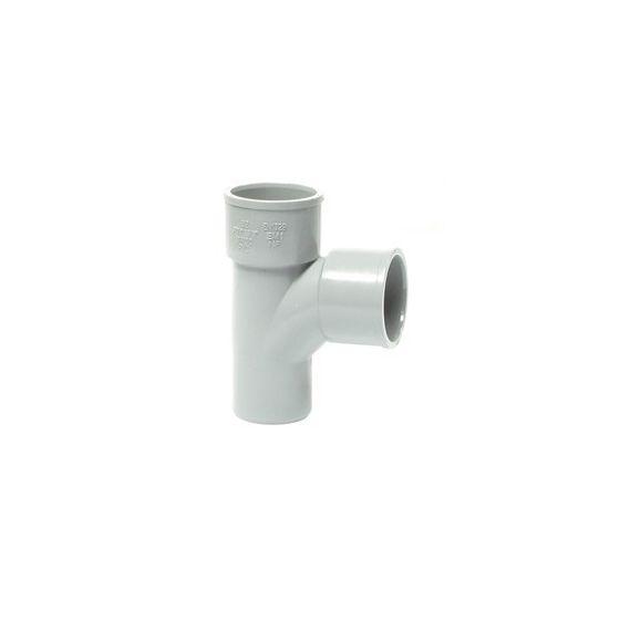 Té pied de biche PVC 87°30 Mâle Femelle FIRST-PLAST