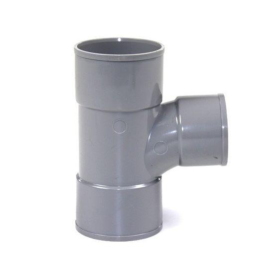 Té pied de biche réduit PVC 87°30 Femelle Femelle FIRST-PLAST