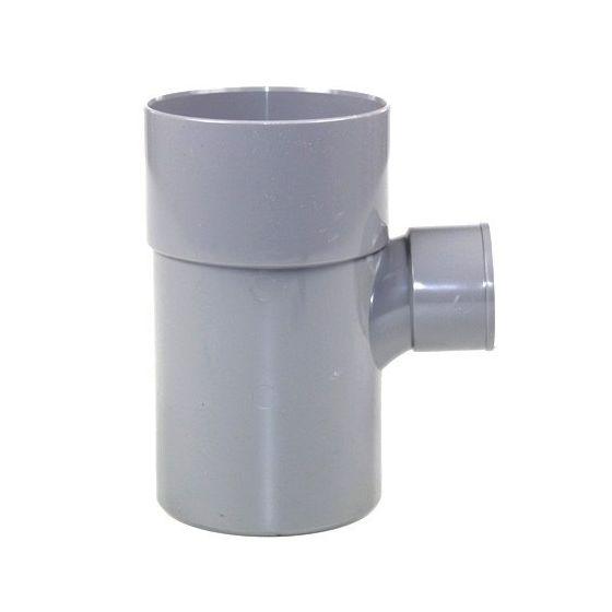 Té pied de biche réduit PVC 87°30 Mâle Femelle FIRST-PLAST