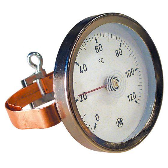 THERMADOR Thermomètre applique à bracelet 0 à 120°C - Ø63