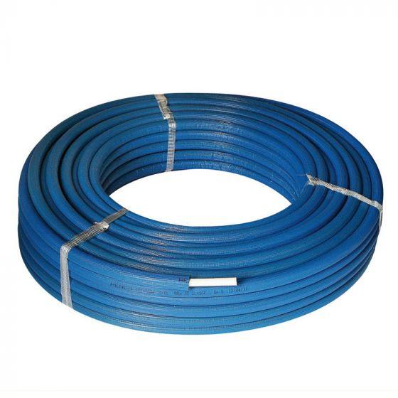 Tube multicouche isolé bleu - Ø26x3,0 - Alu 0,28mm - Henco