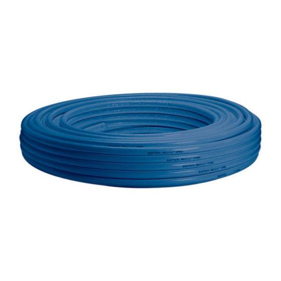 Tube multicouche isolé bleu - Ø16 x 2 - Alu 0,2mm - 50 mètres - Arcanaute