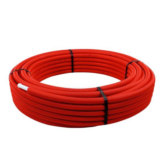Tube multicouche prégainé rouge - Ø16 x 2 - Alu 0,2mm - 50 mètres - Arcanaute