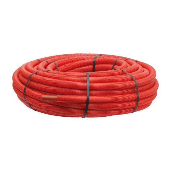 Tube PER pré-gainé rouge Ø16 - Somatherm