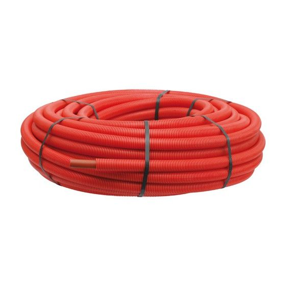 Tube PER pré-gainé rouge Ø20 - Somatherm