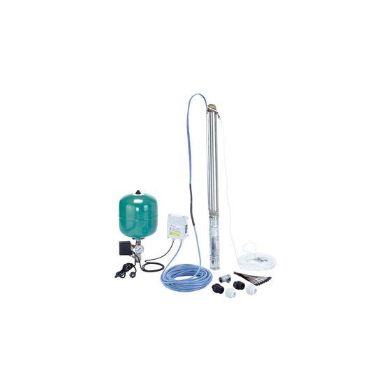 """Kit Pompe forage 3"""" WILO Sub TWU 3-0130DS Plug&Pump-2m3/h à 53m/CE"""