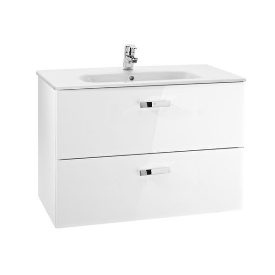 meuble unik victoria blanc 800x450mm lavabo blanc c ramique. Black Bedroom Furniture Sets. Home Design Ideas