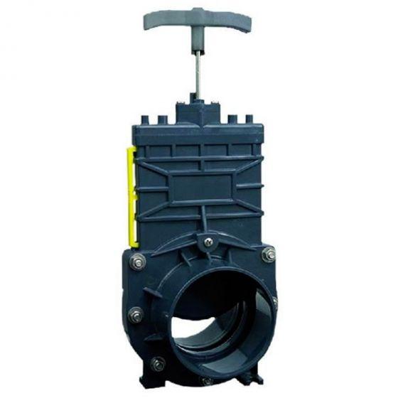 Vanne arrêt guillotine pour SANICUBIC tuyau arrivée DN100