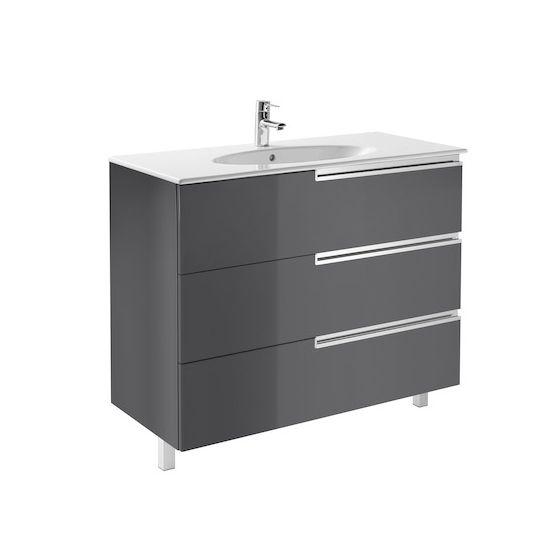 Meuble Unik VICTORIA-N Family oval 1000 3 tiroirs et lavabo