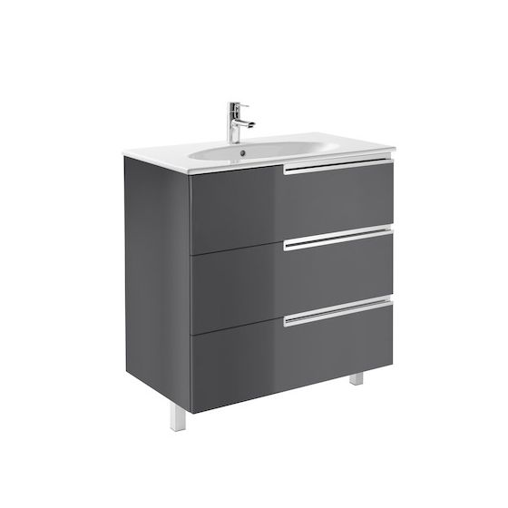Meuble Unik VICTORIA-N Family oval 800 3 tiroirs et lavabo