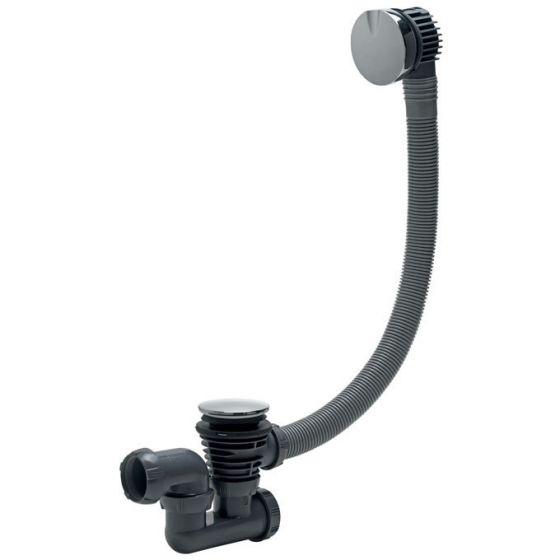 Vidage Baignoire à cable finition en métal 700 mm - Wirquin Pro 30720357