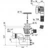 Vidage Baignoire à câble 1000mm - Volant ABS chromé - WIRQUIN (3)
