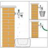 "Robinet de puisage laiton nickelé Antigel ICECAL 1/2"" (15/21) (3)"