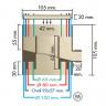 Récupérateur d'eaux de pluie PVC