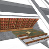 10 rouleaux laine de verre URSA MRK 40 TERRA revêtu kraft - Ep. 200mm - 48,60m² - R 5 (3)