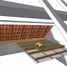 Rouleau laine de verre URSA MRK 40 TERRA revêtu kraft - Ep. 260mm - 4,20m² - R 6.50 (3)