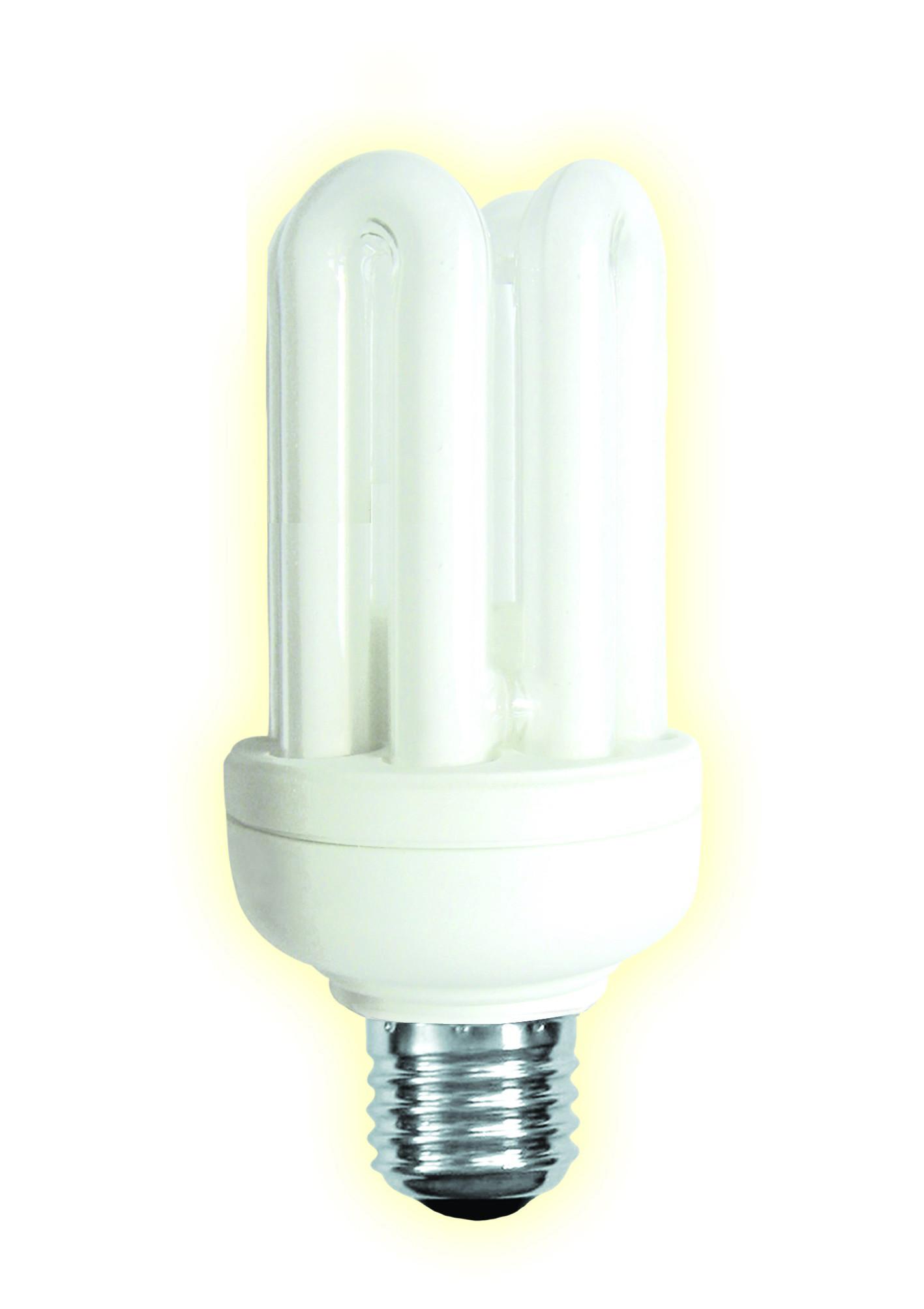 ampoule co fluocompacte 4 tubes e27 18w 1010lm 4000 k. Black Bedroom Furniture Sets. Home Design Ideas