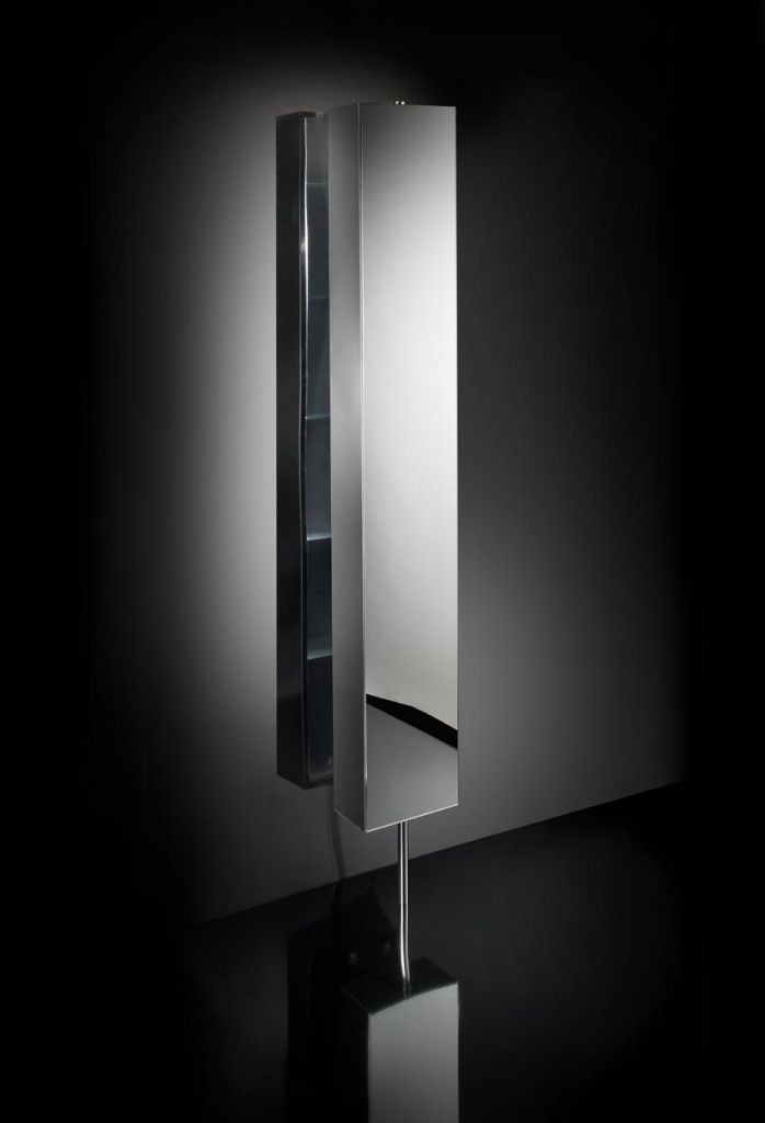 armoire inox tournante 6 tag res avec miroir anjou connectique. Black Bedroom Furniture Sets. Home Design Ideas