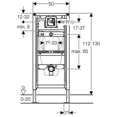 b ti support duofix geberit urinoir 111616001. Black Bedroom Furniture Sets. Home Design Ideas