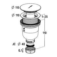 Bonde douche sortie verticale diam tre 90mm nicoll anjou connectique - Bonde de douche verticale ...