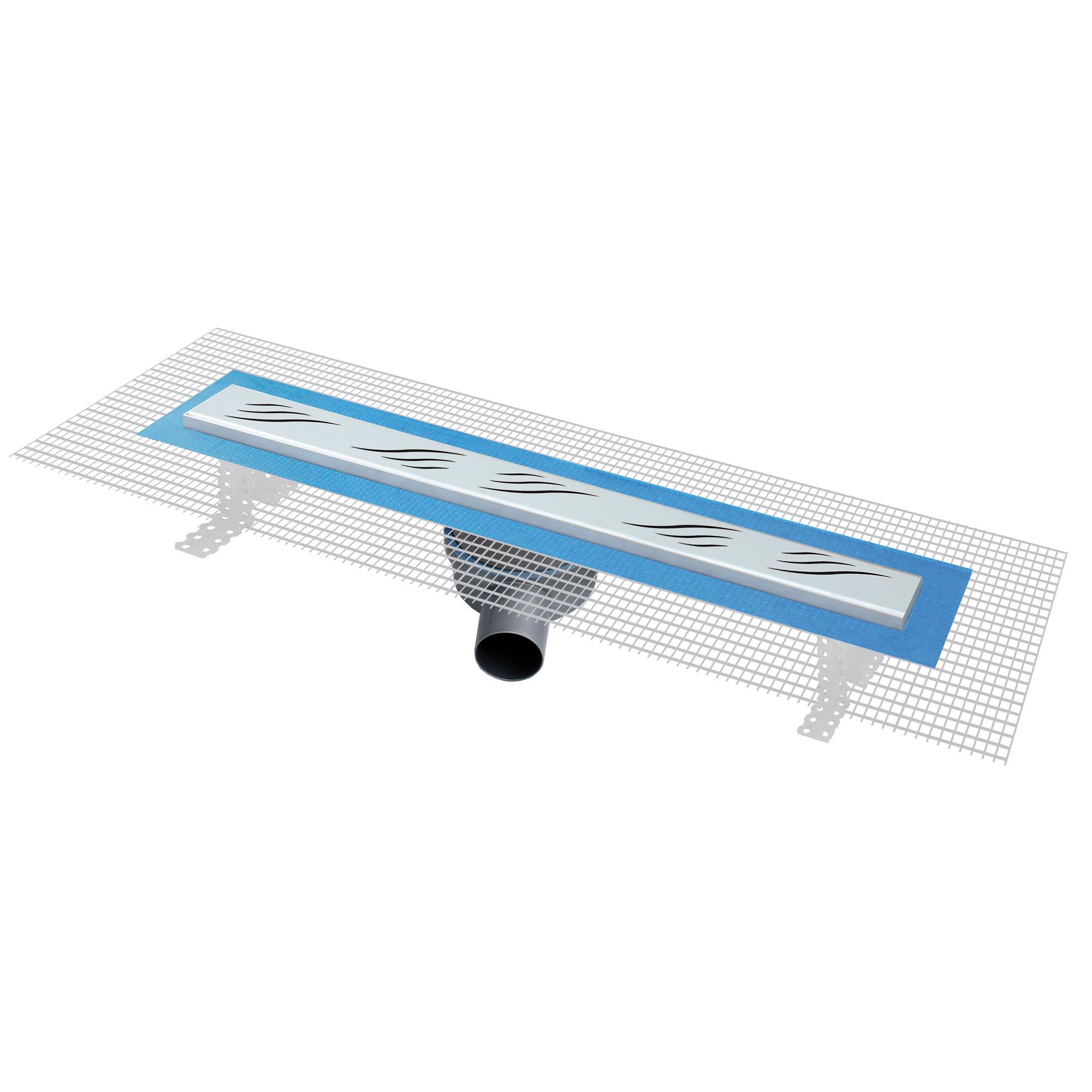 caniveau de douche l 39 italienne pratiko2 600x60mm anjou connectique. Black Bedroom Furniture Sets. Home Design Ideas