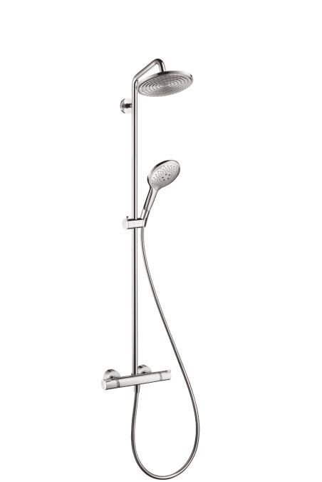 Hansgrohe showerpipe raindance select s 240 ecosmart 1 jet chrome 27116000 colonne de douche for Colonne hansgrohe raindance showerpipe