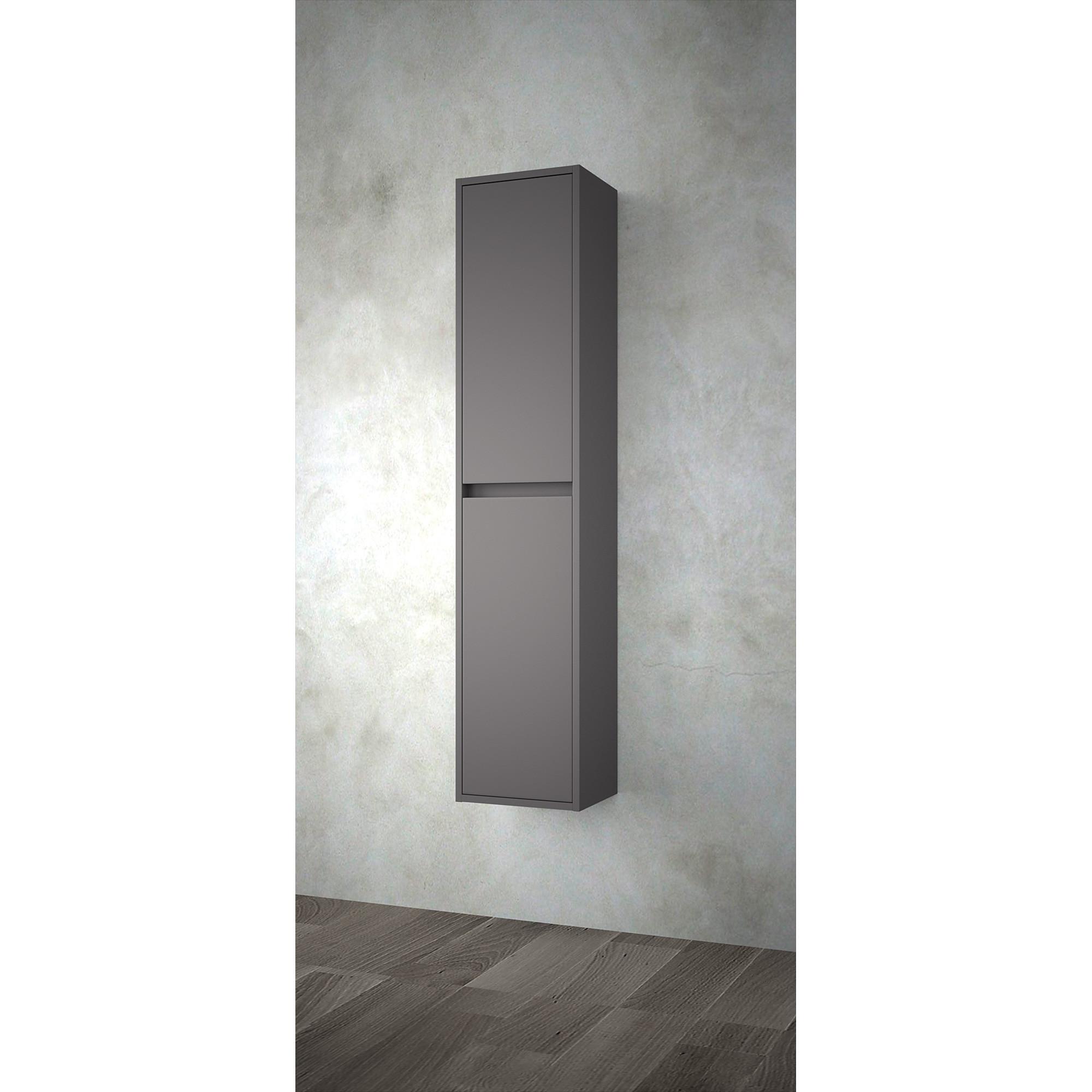 colonne salle de bain unit 300 gris mat anjou connectique. Black Bedroom Furniture Sets. Home Design Ideas