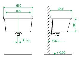 bac laver nicoll pour fixation murale anjou connectique. Black Bedroom Furniture Sets. Home Design Ideas