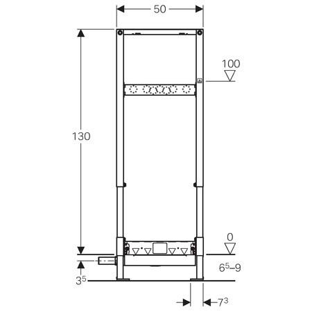 b ti support duofix geberit douche de plain pied 111734001 anjou connectique. Black Bedroom Furniture Sets. Home Design Ideas