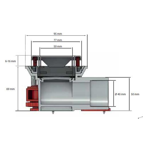 corps de caniveau de douche faible hauteur docia nicoll anjou connectique. Black Bedroom Furniture Sets. Home Design Ideas