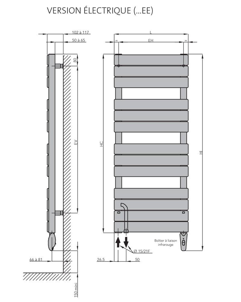 s che serviettes eau chaude mixte acier chorus bains anjou connectique. Black Bedroom Furniture Sets. Home Design Ideas