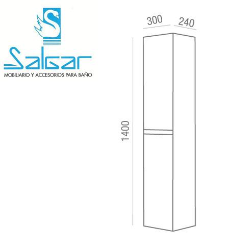 Colonne salle de bain unit 300 gris mat anjou connectique for Dimension meuble sdb