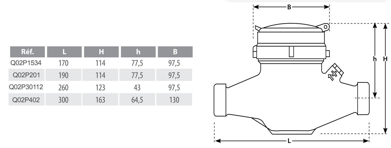 compteur d 39 eau 1 re prise jets multiples m le m le. Black Bedroom Furniture Sets. Home Design Ideas